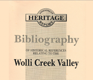 cover of the book Bibliography of references to the Wolli Creek Valley