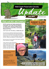 Cover of June 2016 update newsletter