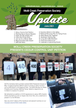 Cover of the latest update newsletter