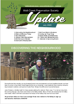 Front page of July 2020 update newsletter