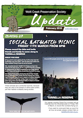 Cover of February 2016 update newsletter